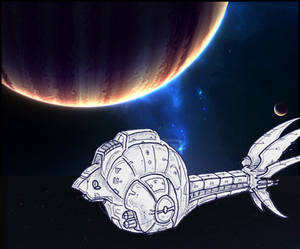 Starship Yurlungur approaching Galaton