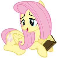 Fluttershy Reading a book by Tardifice