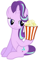 Starlight Glimmer takes popcorn by Tardifice