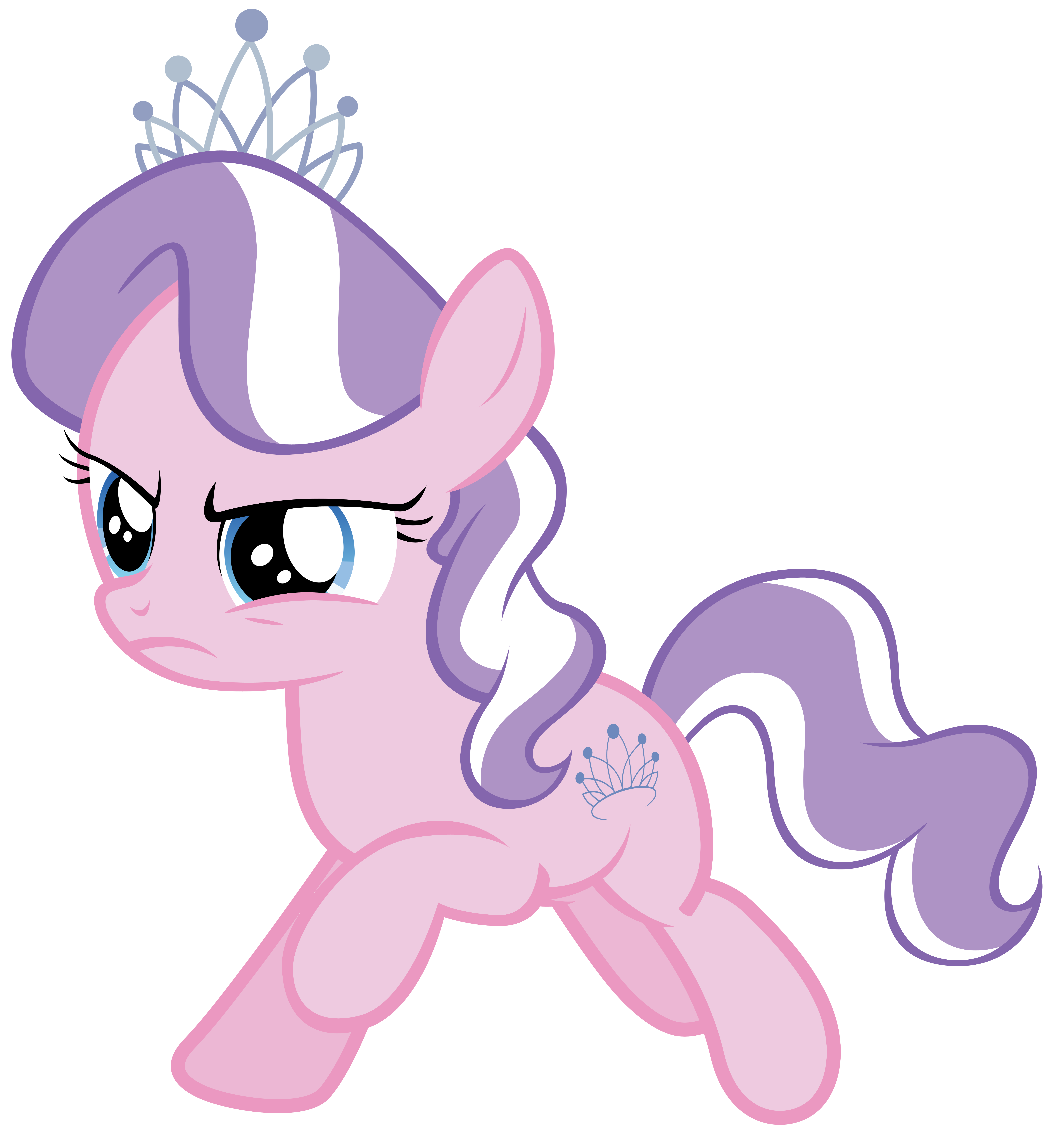 Diamond Tiara gallops through Ponyville