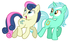 Lyra and Sweetie Drops
