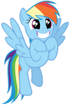 Rainbow Dash is excited