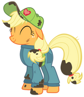 Applejack in Work Suit by Tardifice