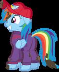 Rainbow Dash in Work Suit