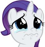 Filly Rarity starting to cry