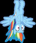 Rainbow hanging upside-down in Pinkie's closet