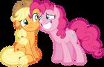 Pinkie apologizing to Applejack