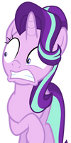 Starlight Glimmer repulsed by Fluttershy