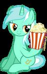 Lyra takes popcorn