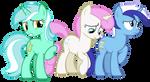 Lyra, Twinkleshine and Minuette