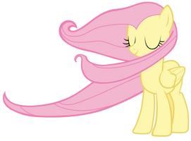 Fluttershy swept by the wind by Tardifice