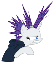 Rest of Rarity's mane wildly sticking out by Tardifice