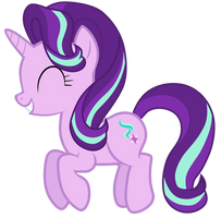 Starlight Glimmer jumping up and down by Tardifice