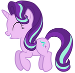 Starlight Glimmer jumping up and down