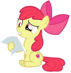 Apple Bloom looking at CMC client file