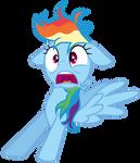Rainbow Dash startled awake