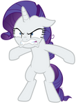 Rarity growling with overprotective greed