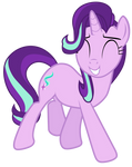 Starlight Glimmer watches ponies have fun