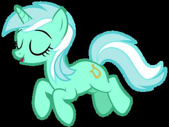 Tiny Lyra jumping off of Yona