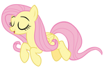 Tiny Fluttershy jumping off of Yona
