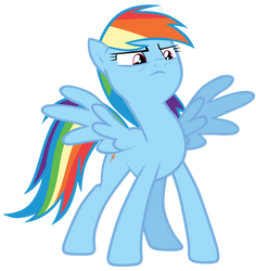 Rainbow Dash puffing out her chest