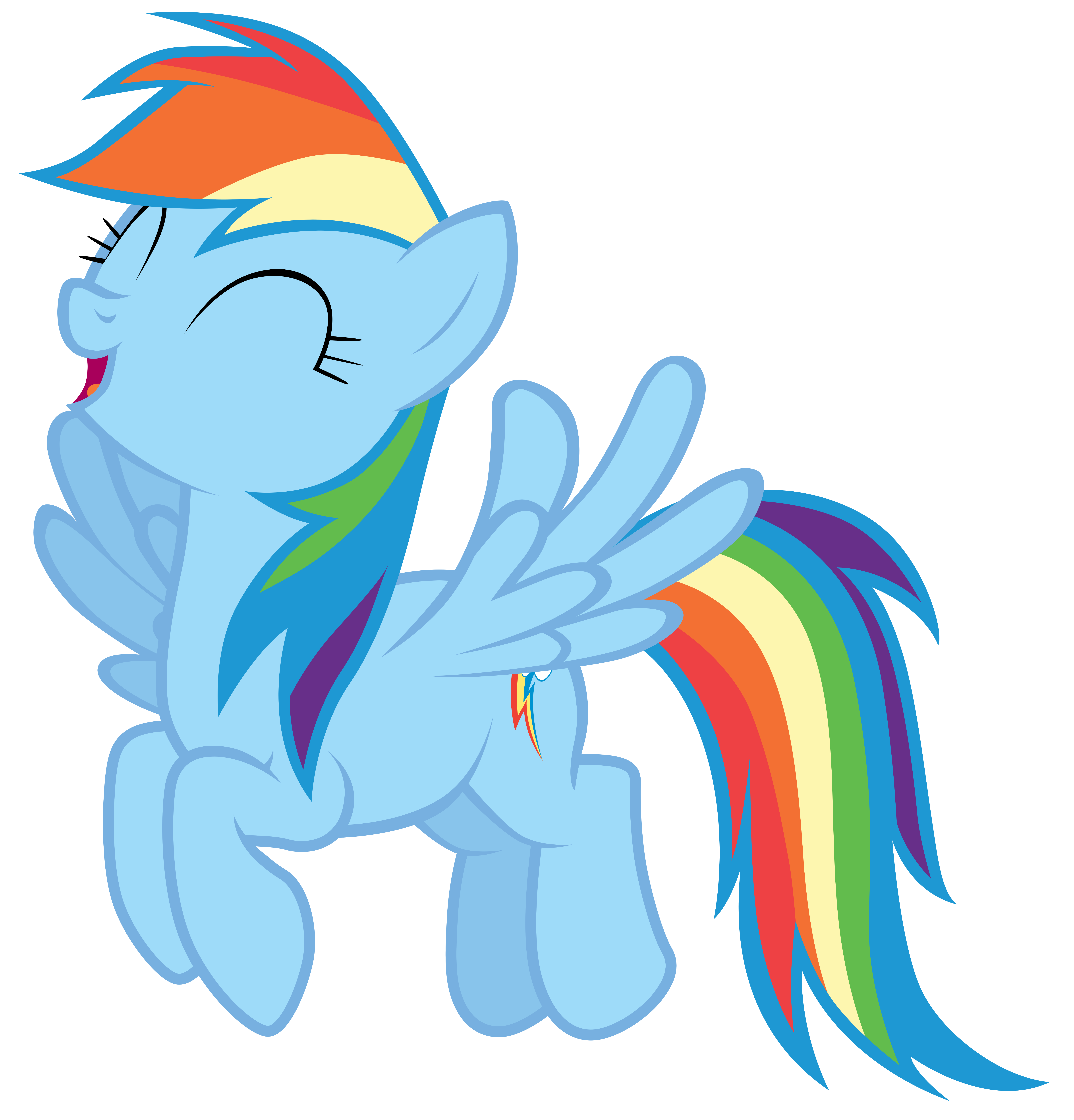 Rainbow Dash fluttering with excitement