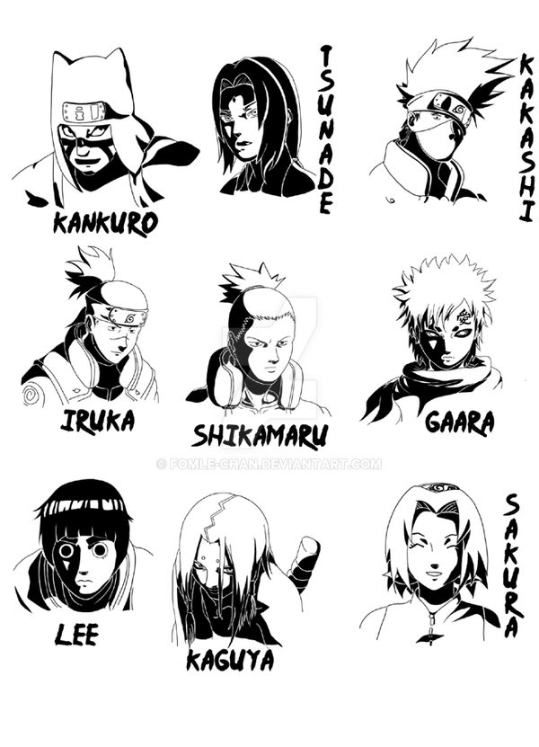 naruto characterstwo by fomlechan on deviantart