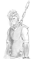 Zabuza Sketch by Fomle-chan