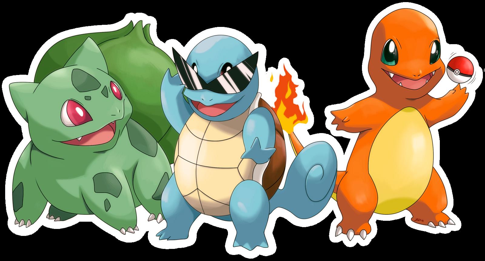 Pokemon Gen 1 Starters Images