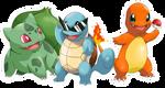 POKEMON starter pokemon GEN1