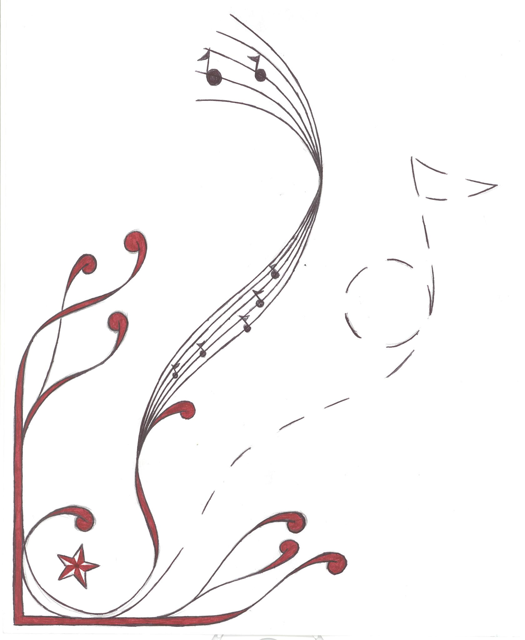 note music musical embroidery designs notes machine drawing deviantart ty ivey drawings patterns font 2007