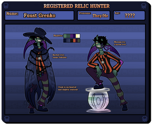 Relic Hunter - Faust by notecardPasta
