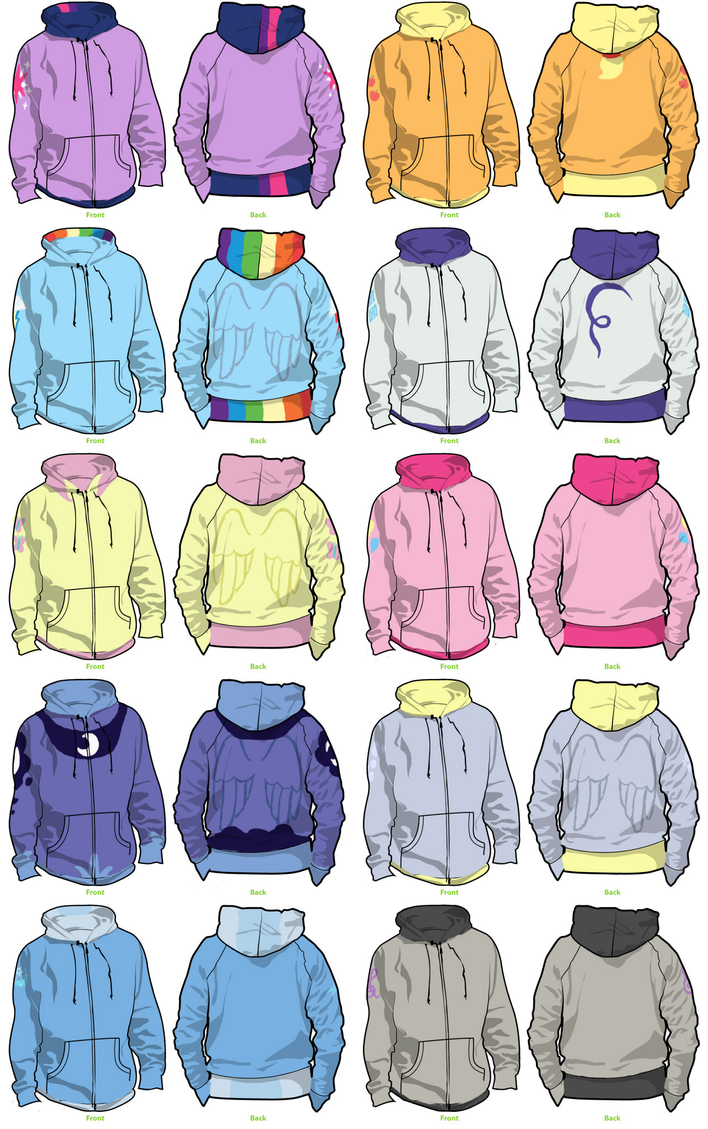 Pony Hoodies by MSLynk