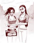 Robin Nico and Lara Croft
