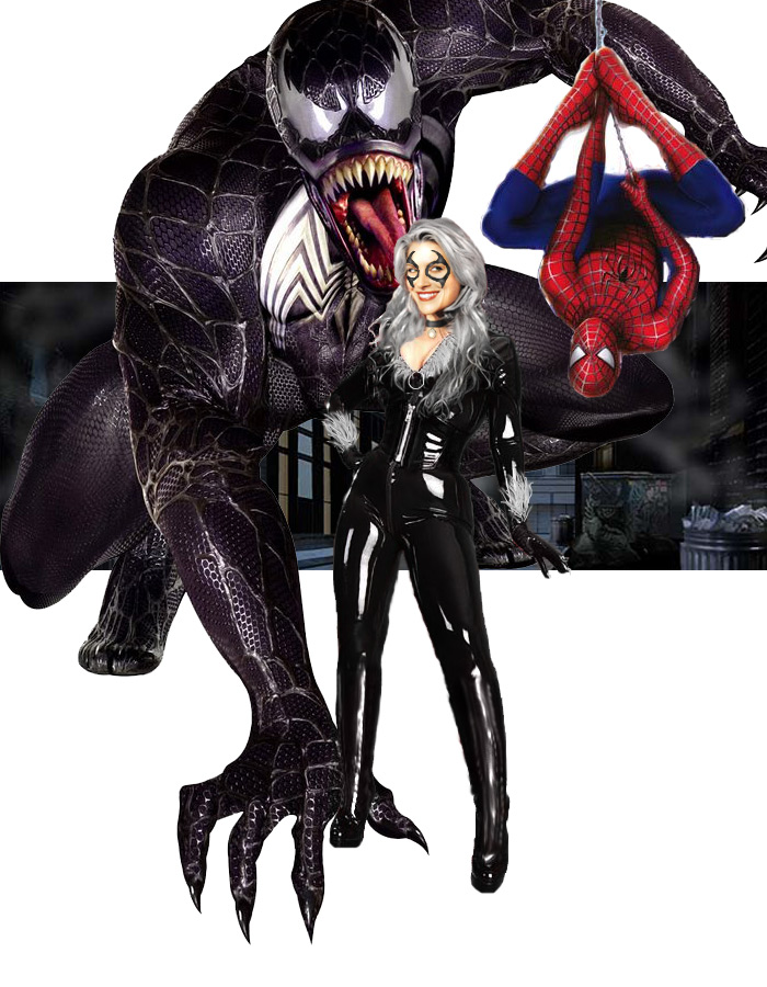 Black Cat Spider-Man Venom by psychegirl