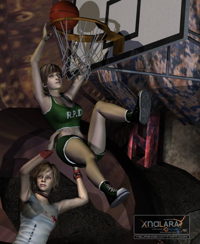 Basketball match (Close up)