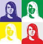 Andy Warhol styled Kurt's face