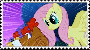 Fluttershy Staring at Chickens Stamp by Galaxy-Dragon