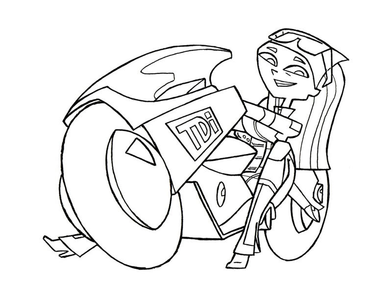 Lindsay akira bike by tdi exile on deviantart for Total drama coloring pages