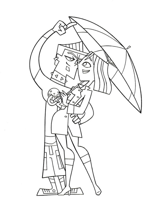 Tdi under the umbrella by tdi exile on deviantart for Total drama coloring pages