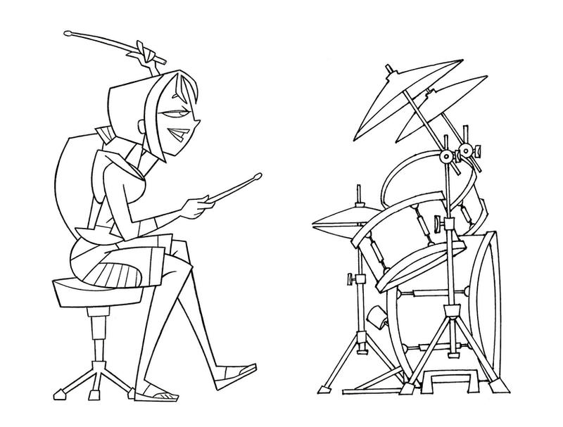 bridgette and drum set by tdi exile