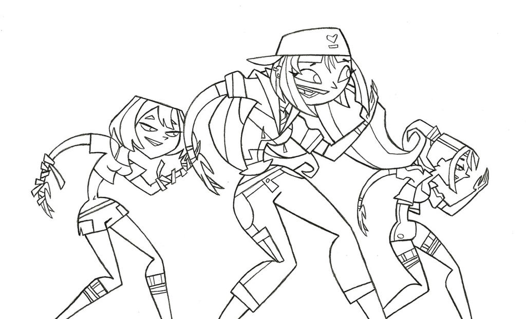 Tdi dance group sketch by tdi exile on deviantart for Total drama coloring pages