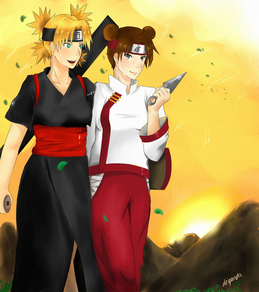 Temari and Tenten Commission by zhaleys
