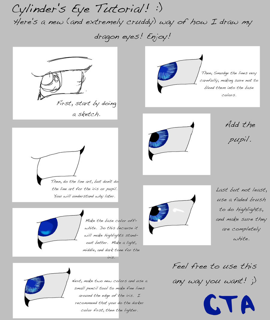 Dragon Eye Tutorial For Gimp By Cylindertheautobot