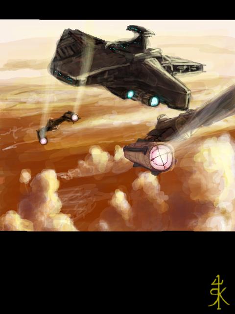Republic fleet on Geonosis by Raikoh-illust
