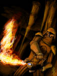 Clonetrooper with flamethrower