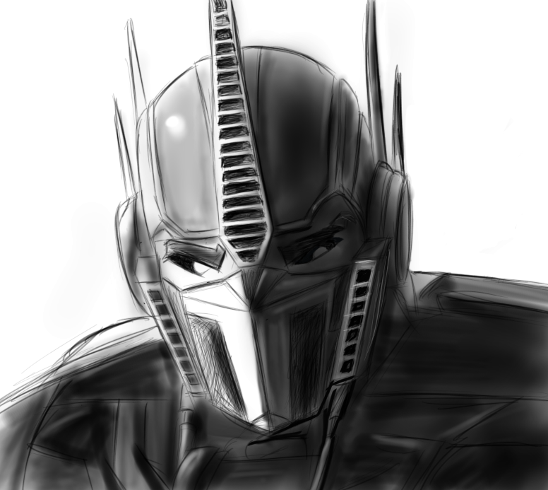 Optimus Prime sketch by Raikoh-illust