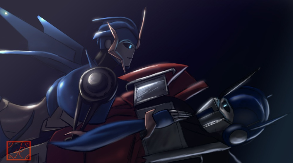 Optimus Prime and Arcee by Raikoh-illust