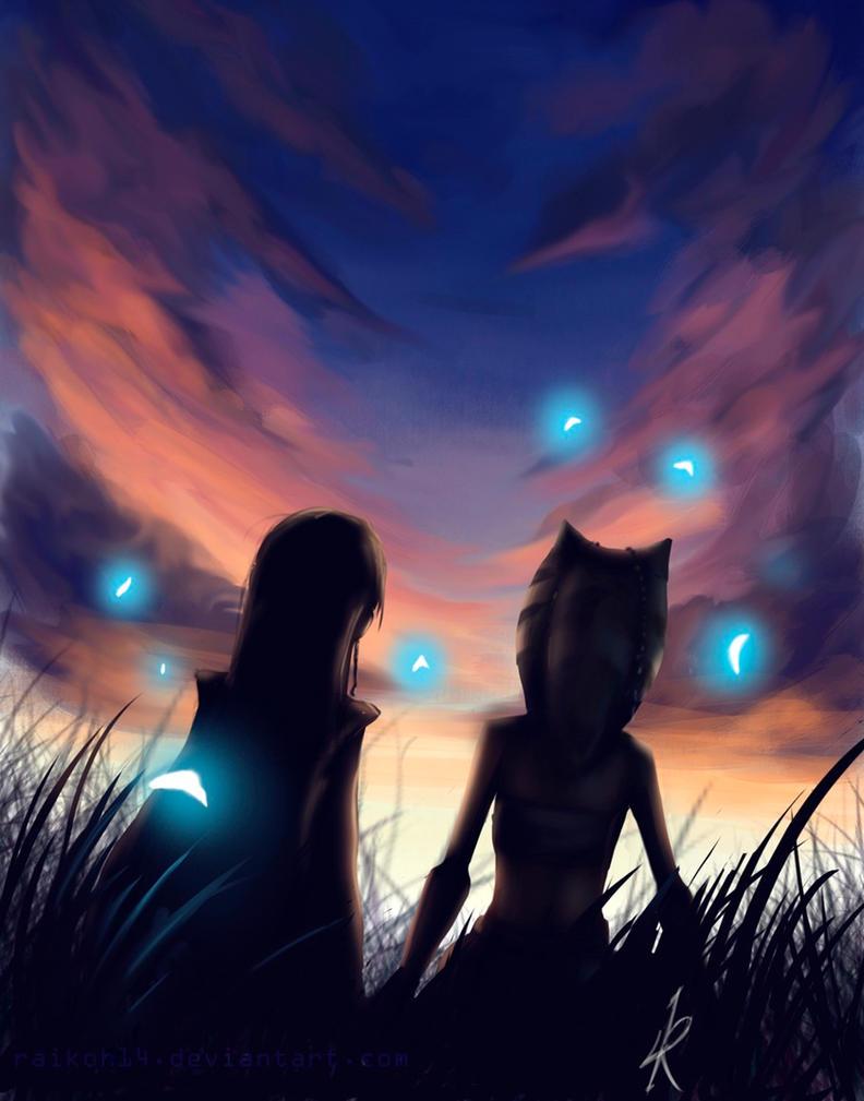 Fireflies by Raikoh-illust