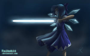 Cirno with a lightsaber by RaikohIllust